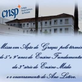 Missa em Ação de Graças séries concluintes 5º e 9º anos Ens. Fund. e 3ª série do Ensino Médio