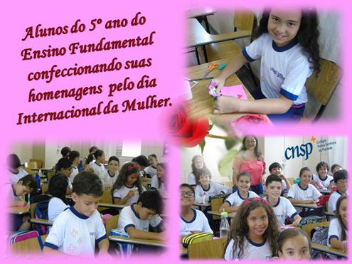 8 de março – Dia Internacional da Mulher – 5º ano do Ensino Fundamental