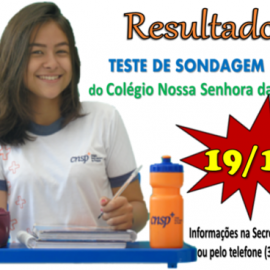 Teste de Sondagem 2019 – Admissão de novos alunos