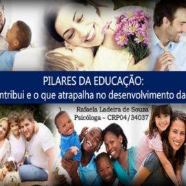"""Reunião de Pais – Palestra: """"PILARES DA EDUCAÇÃO: o que contribui e o que atrapalha no desenvolvimento das crianças"""""""