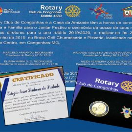 Colégio Piedade é homenageado pelo Rotary Club de Congonhas, distrito 4580