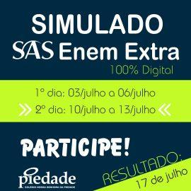 SAS ENEM Extra! A preparação continua!