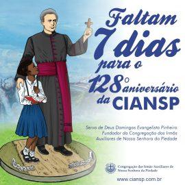 Faltam 7 dias para o 128º aniversário da Congregação das Irmãs Auxiliares de Nossa Senhora da Piedade