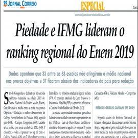 Colégio Piedade lidera o ranking regional do ENEM 2019