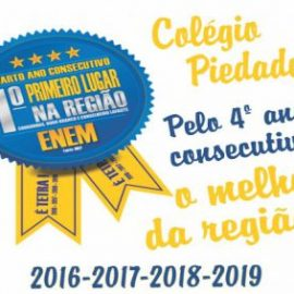 Pelo quarto ano consecutivo, Colégio Piedade é eleito o melhor da região