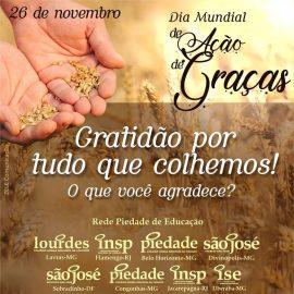 Quanto mais você agradece, mais Deus lhe dá motivos de gratidão