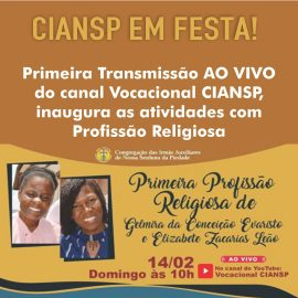 Primeira transmissão AO VIVO do canal Vocacional CIANSP