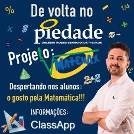 De volta no Piedade: Projeto Matemax!!!