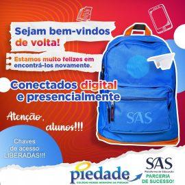 Colégio Piedade e Plataforma SAS de Educação: Uma parceria de sucesso!!!