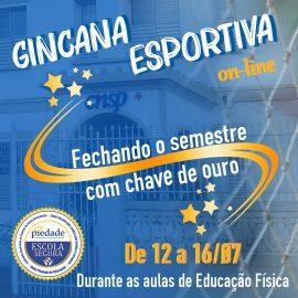 Resiliência é o tema da Gincana esportiva on-line desenvolvida com os alunos dos 6ºs aos 8ºs anos do Ensino Fundamental II