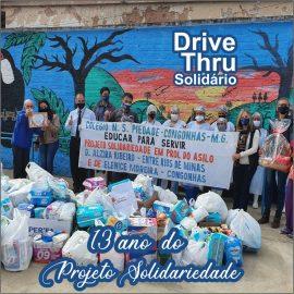 Asilo D. Alzira Ribeiro recebe donativos angariados no Drive Thru Solidário promovido pelo Colégio Piedade