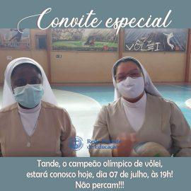 É HOJE! As Irmãs e o@tandevoleitêm um convite especial para você e seus amigos!