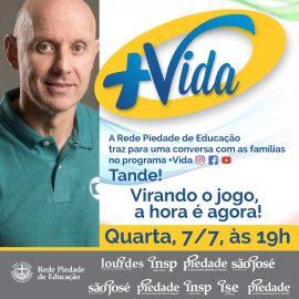 Tande, o campeão olímpico de vôlei, estará conosco na próxima quarta-feira, 07/07, em mais uma live do Programa +Vida!