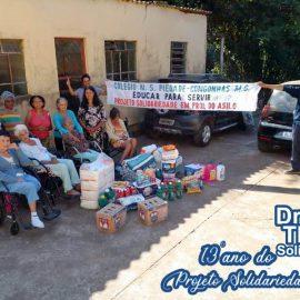 CAPI – Casa de acolhimento de pessoas idosas de Congonhas, recebe parte dos donativos recebidos durante o Drive Thru Solidário do Colégio Piedade