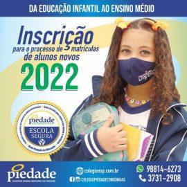 Processo de Matrículas de novos alunos 2022